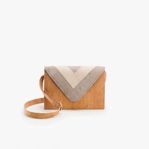Дамска чанта от корк 'ENVELOPE' Grey