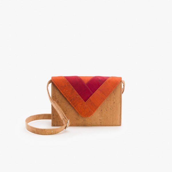 Дамска чанта от корк 'ENVELOPE' Orange