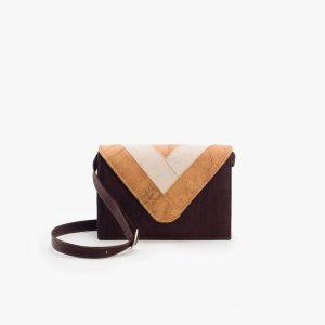 Дамска чанта от корк 'ENVELOPE' Brown