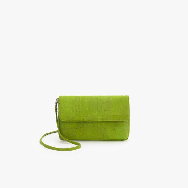 Мини дамска чанта от корк 'POUCA' Lime Green