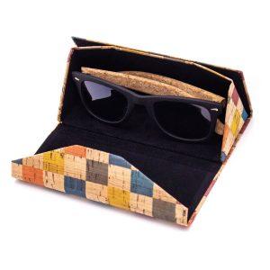 """Сгъваем калъф за очила от корк """"Triangle"""""""