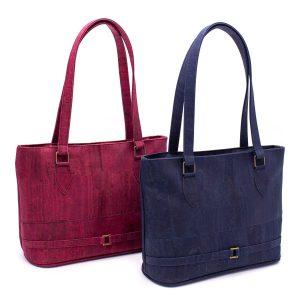 Дамска чанта от корк в бордо или тъмно синьо 'VINHO'