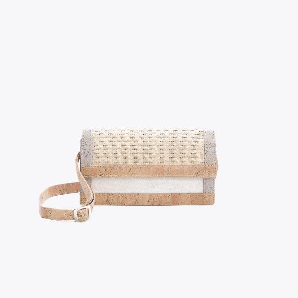 Дамска чанта от корк и текстил 'FABRICA' Light