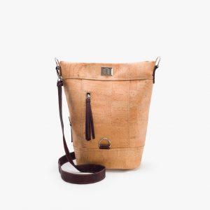 Дамска раница-чанта (2 в 1) от корк 'CONVERSÍVEL CASTANHO'
