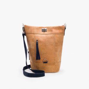 Дамска раница-чанта (2 в 1) от корк 'CONVERSÍVEL AZUL'