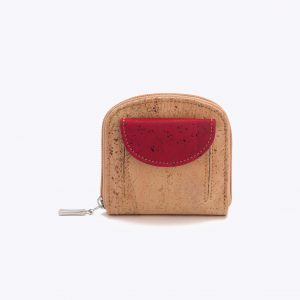 """Дамско портмоне от корк """"Coin Pocket Bordeaux"""""""