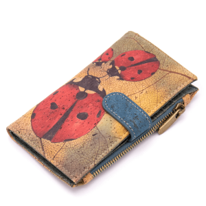 """Дамски портфейл от корк """"Ladybug"""""""
