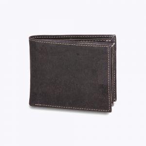 """Мъжки портфейл от корк """"Hombre"""" - Black"""