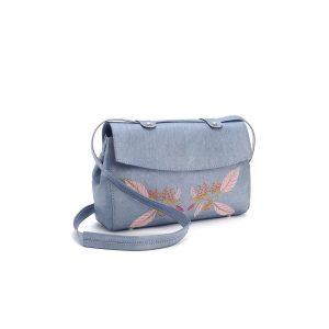 Дамска чанта от корк с бродерия 'BORDADA CELESTIAL'