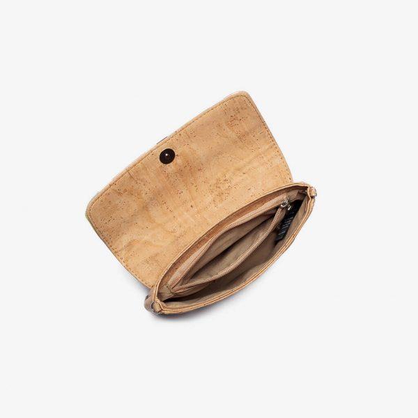 Мини дамска чанта от корк 'POUCA' Striped