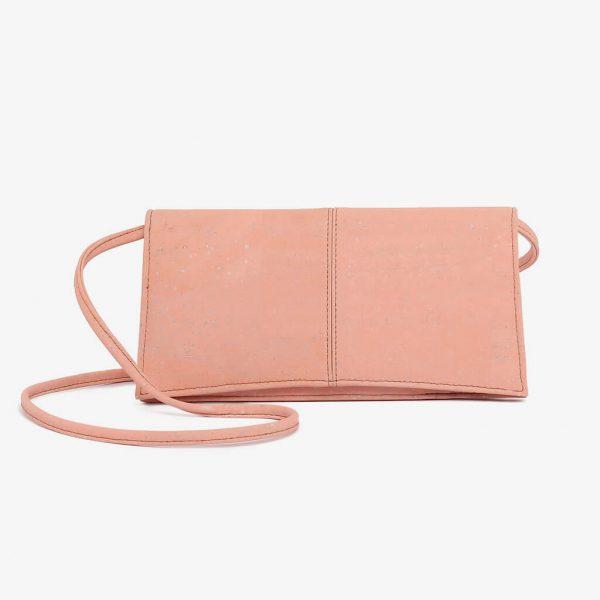 Дамска мини чанта от корк 'TARDE' Pink